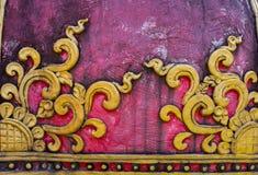 Thai art style on elephant statue in public temple Stock Photos