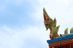 Thai art temple Royalty Free Stock Photo