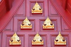 Thai art in the Thai temple Royalty Free Stock Photo