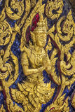 Thai art. Thailand Thailand art pattern attached to the entrance of the temple royalty free stock photography