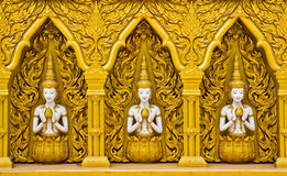 Thai art on the wall Stock Images