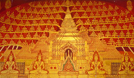 Thai art wall painting. In a temple Royalty Free Stock Photo