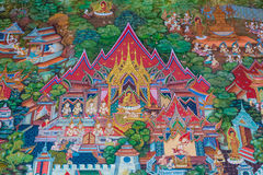 Thai art wall painting. Stock Image