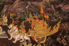 Thai art wall painting Stock Photo