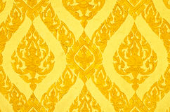 Thai art wall pattern Royalty Free Stock Images