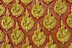 Thai art wall pattern Royalty Free Stock Image