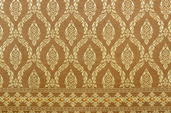 Thai art wall pattern. Stock Images