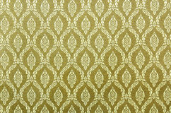 Thai art wall pattern for background Royalty Free Stock Photos