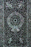 Thai art wall pattern. In temple Royalty Free Stock Photo