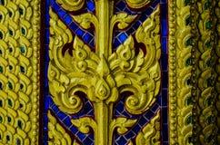 Thai art wall pattern Stock Photo