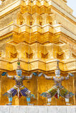 Thai Art in Wat Phra Kaew Stock Photo