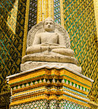 Thai Art in Wat Phra Kaew Temple, at Thailand. Stock Photos