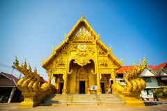 Thai art at Wat Si Phan Ton. Beautiful golden temple of Nan.Thailand. Royalty Free Stock Photos