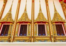Thai art on the window Stock Photo