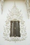 Thai art window of Rongkhun Temple Chiangrai, Thailand Stock Images