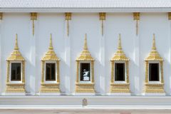 Thai art window at wall. Stock Images