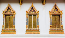 Thai art windows Royalty Free Stock Image