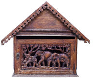 Thai art on wood Royalty Free Stock Photography