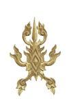 Thai art wood craft on white Stock Images