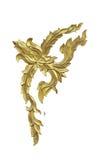 Thai art wood craft on white Royalty Free Stock Image