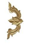 Thai art wood craft on white Royalty Free Stock Photography