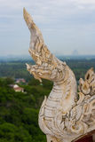 Thai artificial carving of snake Stock Image