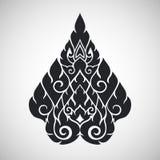 Thai arts ancient decorative element, vector Stock Image