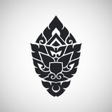 Thai arts ancient decorative element, vector Royalty Free Stock Photography