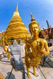 Thai arts and culture. Kinnari statue at Wat Phra Royalty Free Stock Image
