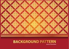 Thai Arts Outline Stroke, Vector Pattern