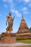 Thai Asia Travel. Sukhothai Historical Park. Buddhist sculpture. Buddha statue walking. Sukhothai Historical Park, Travel Asia Stock Images