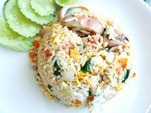 Thai Asian food. Squid fried rice Stock Photo