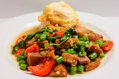 Thai asian stir-fry stock photos