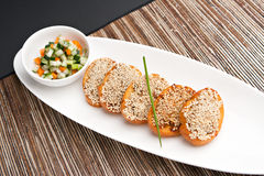 Shrimp Sesame Toasts Royalty Free Stock Images