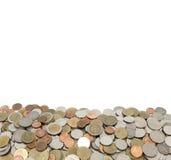 Thai bad för mynt som isoleras på vit bakgrund Royaltyfri Fotografi