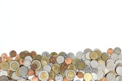 Thai bad för mynt som isoleras på vit bakgrund Arkivfoto