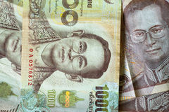 Thai Baht background.  Currency of Thailand. Stock Photography