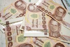 Thai baht banknotes. Pile of Thai baht banknotes Stock Photography