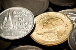 Thai baht coin Royalty Free Stock Photography