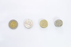 Thai Baht coin. 1, 2, 5, and 10 of Thai Baht coin Stock Photo