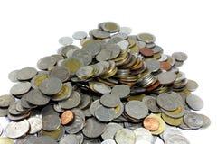 Thai Baht coins. Studio shot isolated on white background. Royalty Free Stock Photos