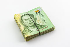 Thai Baht currency with bank note ,Thai money. Royalty Free Stock Photography