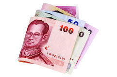 Thailand : Thai Baht currency money isolated on white background Stock Photo
