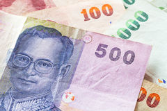 Thai baht money banknotes Stock Images