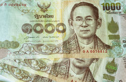 Thai Baht note printed with king's portrait and watermarks Royalty Free Stock Image