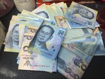 50 Thai Baht. Savings money rich Stock Photos