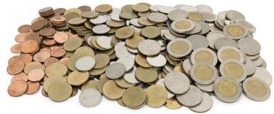Thai bakgrund för mynt Arkivbilder