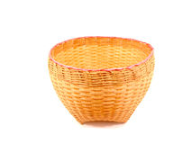 Thai bamboo basket Royalty Free Stock Images