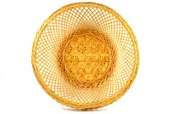 Thai bamboo basket texture Stock Photo
