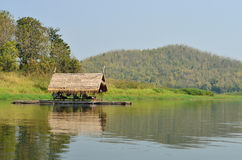Thai bamboo floating on lake Royalty Free Stock Image